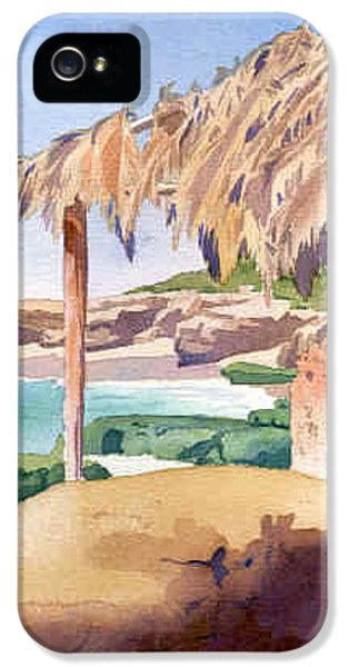Hut iPhone 5 Cases - Shelter at Wind n Sea Beach LJ iPhone 5 Case by Mary Helmreich