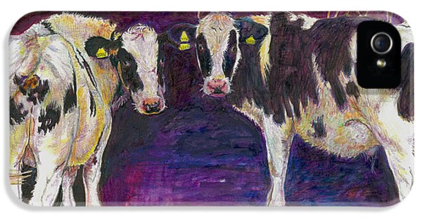 Sheltering Cows IPhone 5 / 5s Case by Helen White