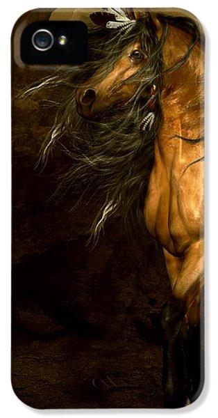 Original Art iPhone 5 Cases - Shikoba Choctaw Horse iPhone 5 Case by Shanina Conway