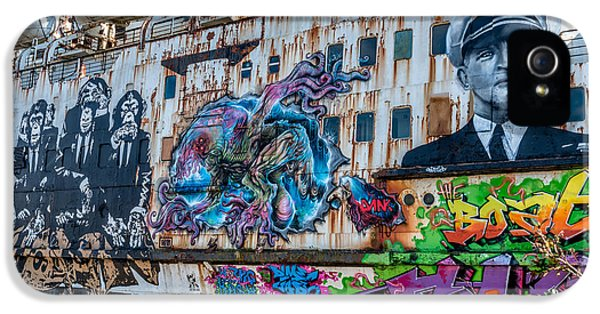 Graffiti iPhone 5 Cases - Ship Art iPhone 5 Case by Adrian Evans
