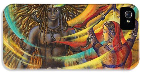 Nirvana iPhone 5 Cases - Shiva Shakti iPhone 5 Case by Vrindavan Das