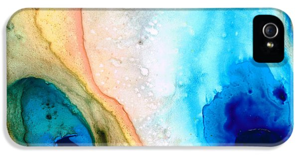 Tan iPhone 5 Cases - Shoreline - Abstract Art By Sharon Cummings iPhone 5 Case by Sharon Cummings