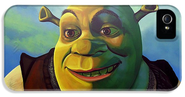 Moviestar iPhone 5 Cases - Shrek iPhone 5 Case by Paul Meijering