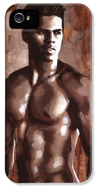 Erotic Male iPhone 5 Cases - Sienna Marcus iPhone 5 Case by Douglas Simonson