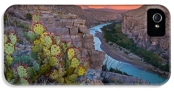 Epic iPhone 5 Cases - Sierra del Carmen and the Rio Grande iPhone 5 Case by Inge Johnsson