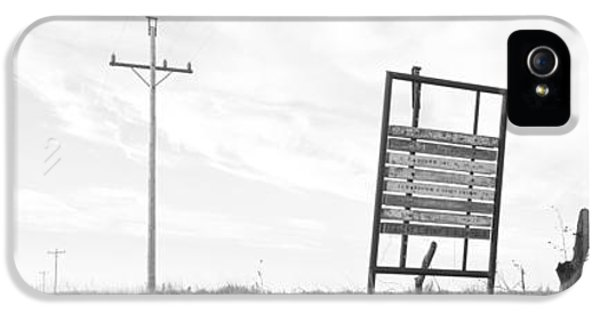 Communication iPhone 5 Cases - Signboard In The Field, Manhattan iPhone 5 Case by Panoramic Images