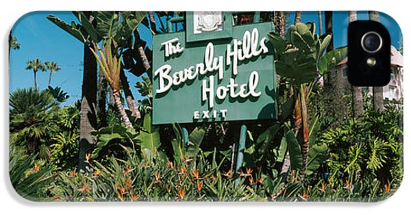 Signboard Of A Hotel, Beverly Hills IPhone 5 / 5s Case by Panoramic Images
