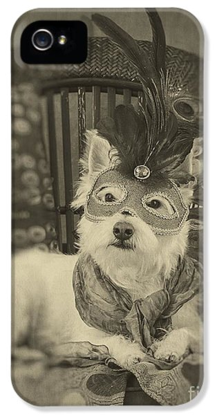 Masquerade iPhone 5 Cases - Silent Film Star iPhone 5 Case by Edward Fielding