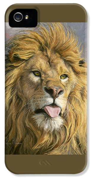 Lion iPhone 5 Cases - Silly Face iPhone 5 Case by Lucie Bilodeau