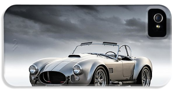 Roadsters iPhone 5 Cases - Silver AC Cobra iPhone 5 Case by Douglas Pittman