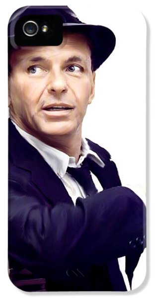 Aged iPhone 5 Cases - Sinatra VII  Frank  Sinatra iPhone 5 Case by Iconic Images Art Gallery David Pucciarelli