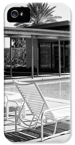 Feature iPhone 5 Cases - SINATRA POOL BW Palm Springs iPhone 5 Case by William Dey