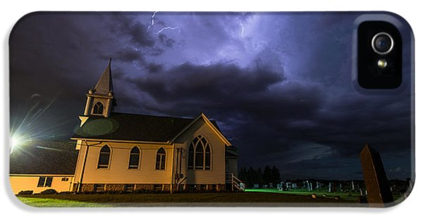 Cemetary iPhone 5 Cases - Sinners Welcome iPhone 5 Case by Aaron J Groen