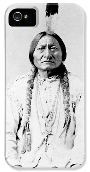 Native American Indian iPhone 5 Cases - Sioux Chief Sitting Bull iPhone 5 Case by War Is Hell Store