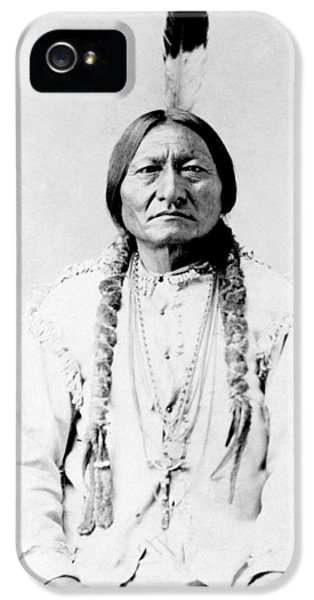 Native American iPhone 5 Cases - Sioux Chief Sitting Bull iPhone 5 Case by War Is Hell Store