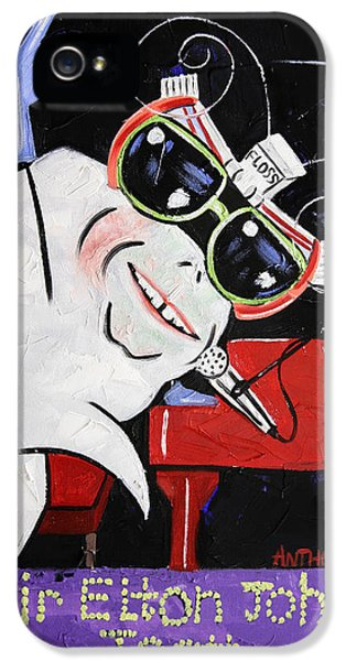 Sir Elton John Tooth  IPhone 5 / 5s Case by Anthony Falbo