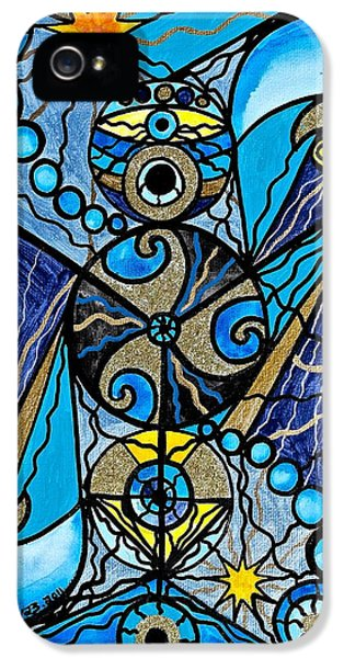 Geometric iPhone 5 Cases - Sirius iPhone 5 Case by Teal Eye  Print Store