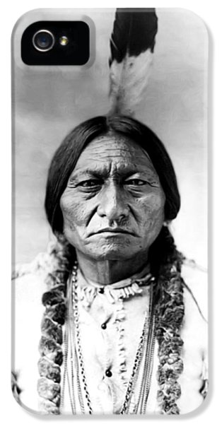 Native American Indian iPhone 5 Cases - Sitting Bull iPhone 5 Case by Bill Cannon