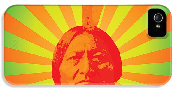 Native American iPhone 5 Cases - Sitting Bull iPhone 5 Case by Gary Grayson