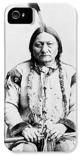 Native American iPhone 5 Cases - Sitting Bull iPhone 5 Case by War Is Hell Store