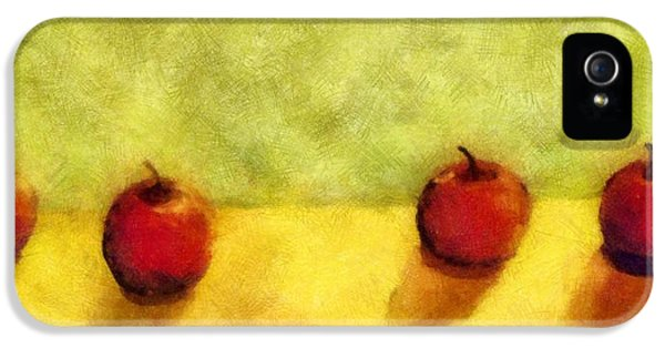 Apple iPhone 5 Cases - Six Apples iPhone 5 Case by Michelle Calkins