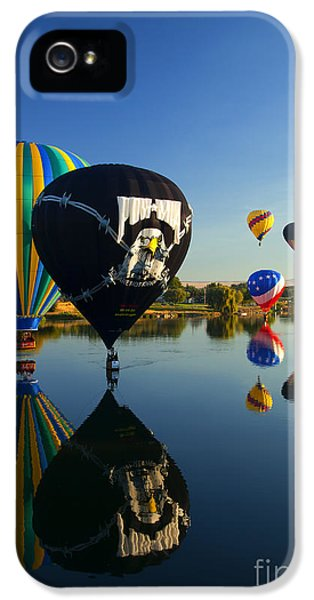 Balloon iPhone 5 Cases - Six on the Pond iPhone 5 Case by Mike  Dawson