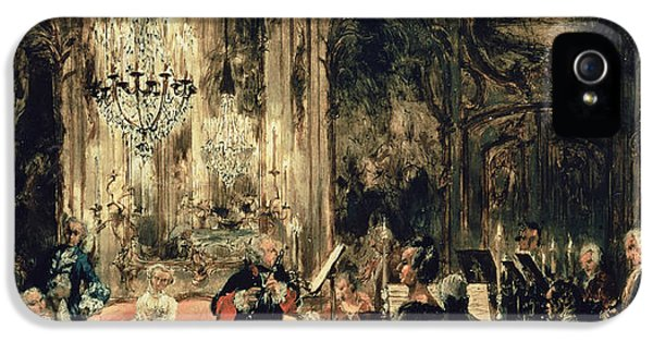Sketch iPhone 5 Cases - Sketch for The Flute Concert iPhone 5 Case by Adolph Friedrich Erdmann von Menzel