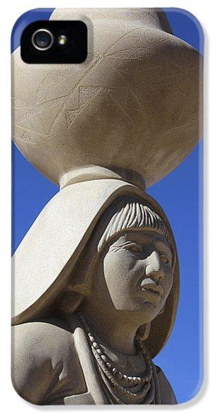Pueblo iPhone 5 Cases - Sky City Cultural Center Statue 2 iPhone 5 Case by Mike McGlothlen