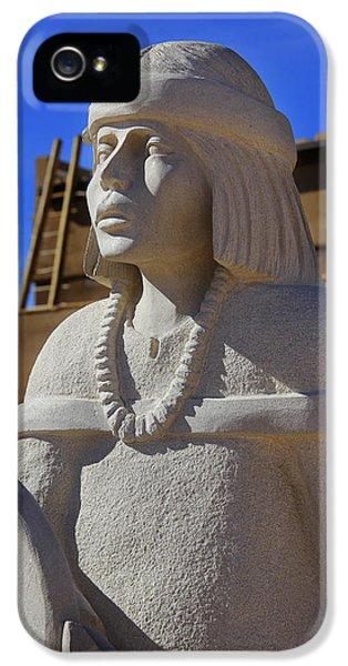 Pueblo iPhone 5 Cases - Sky City Cultural Center Statue iPhone 5 Case by Mike McGlothlen