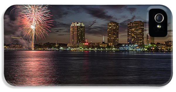 Fire Works iPhone 5 Cases - Sky fire iPhone 5 Case by Rob Dietrich