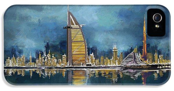 Arab iPhone 5 Cases - Skyline Burj-ul-Khalifa  iPhone 5 Case by Corporate Art Task Force