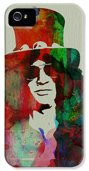 Guns iPhone 5 Cases - Slash Guns N Roses iPhone 5 Case by Naxart Studio