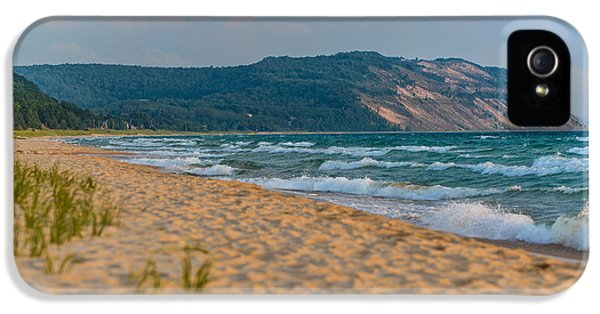 Green iPhone 5 Cases - Sleeping Bear Dunes at Sunset iPhone 5 Case by Sebastian Musial