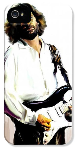 Slow Hand  Eric Clapton IPhone 5 / 5s Case by Iconic Images Art Gallery David Pucciarelli