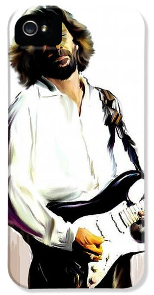 Music Legend iPhone 5 Cases - Slow Hand VI  Eric Clapton iPhone 5 Case by Iconic Images Art Gallery David Pucciarelli