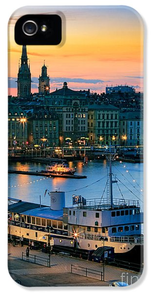 Scandinavian iPhone 5 Cases - Slussen By Night iPhone 5 Case by Inge Johnsson