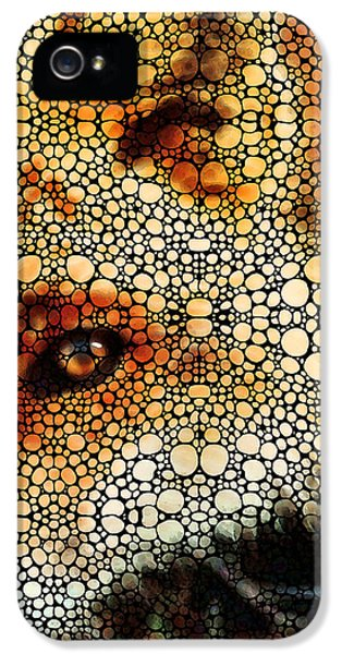 Fox iPhone 5 Cases - Sly Fox - Mosaic Art By Sharon Cummings iPhone 5 Case by Sharon Cummings