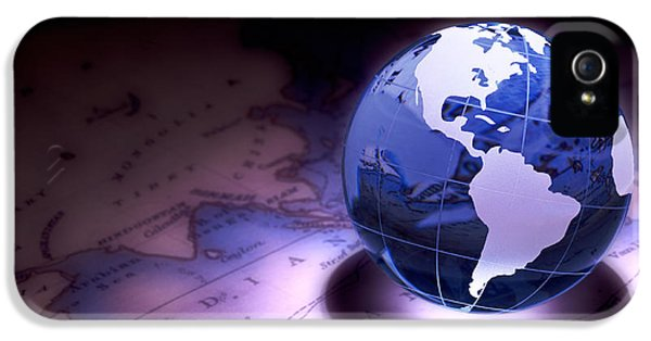 World Map iPhone 5 Cases - Small World Still Life iPhone 5 Case by Tom Mc Nemar