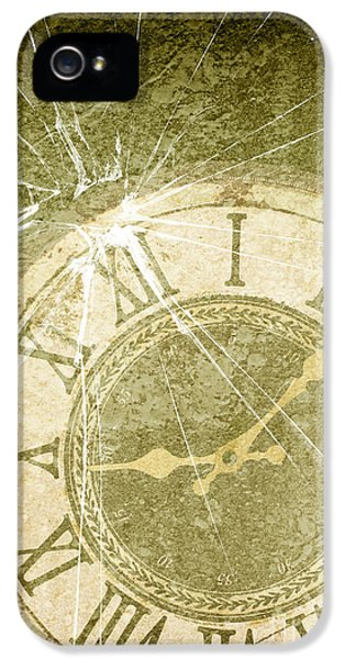 Broken iPhone 5 Cases - Smashed Clock Face iPhone 5 Case by Amanda And Christopher Elwell