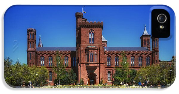 Smithsonian iPhone 5 Cases - Smithsonian Castle - Washington D C iPhone 5 Case by Mountain Dreams