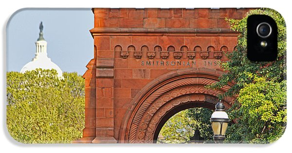 Smithsonian iPhone 5 Cases - Smithsonian Entrance 1136 iPhone 5 Case by Jack Schultz