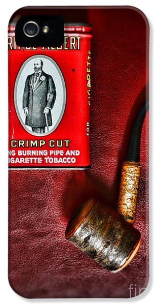 Nicotine iPhone 5 Cases - Smoker - Tobacco - Prince Albert and a Pipe iPhone 5 Case by Paul Ward
