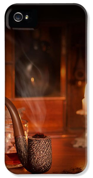 Pipes iPhone 5 Cases - Smoking Pipe iPhone 5 Case by Amanda And Christopher Elwell
