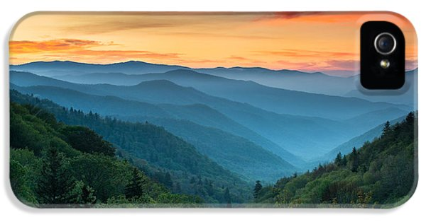 National iPhone 5 Cases - Smoky Mountains Sunrise - Great Smoky Mountains National Park iPhone 5 Case by Dave Allen