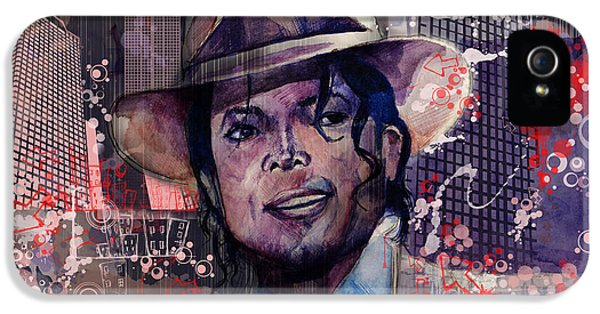 Moon Walk iPhone 5 Cases - Smooth Criminal iPhone 5 Case by MB Art factory