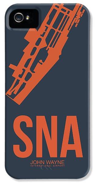 Orange County iPhone 5 Cases - SNA Orange County Airport Poster 1 iPhone 5 Case by Naxart Studio