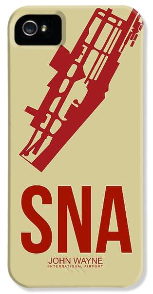 Orange County iPhone 5 Cases - SNA Orange County Airport Poster 2 iPhone 5 Case by Naxart Studio