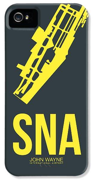 Orange County iPhone 5 Cases - SNA Orange County Airport Poster 3 iPhone 5 Case by Naxart Studio