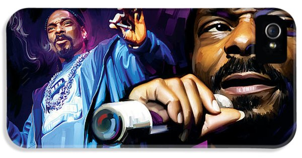 Hip Hop iPhone 5 Cases - Snoop Dogg Artwork iPhone 5 Case by Sheraz A