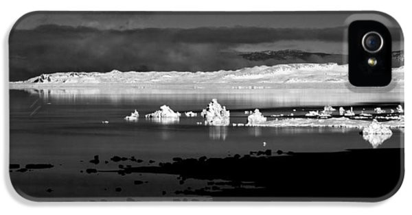 Black Snow iPhone 5 Cases - Snow Covered Tufa iPhone 5 Case by Cat Connor